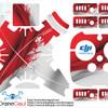 Sticker drone dji phantom 3 pro and advance Indonesia Flag 2