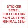 Stiker segel Garansi Fullcolour noncutting (bahan pecah telur) #25lbr