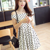 polkadot sabrina dress S,M,L - 61864 WL1N