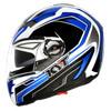 KYT Alpha Venom Motif Blue - Helm Motor Full Face Murah Original