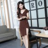 Cotton Dress ( Coffee, Yellow ) - 777385