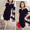 Cotton Dress ( black, white ) - 778655