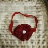 Barika 0169 bandana bayi baby headband jepit rambut bando anak merah