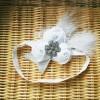 Barika bandana bando bayi dan anak headband bc0152 - tiga bunga putih