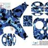 Sticker drone phantom 4 Loreng Biru