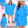 FG - [ Astoria Blue SW] pakaian wanita blouse korea warna biru