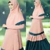 FG - [syari sarina SL] baju muslim wanita jerset kora cream