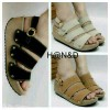 Sepatu Wanita No. 40 Wedges Tan Us 02