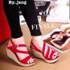 Sepatu Wanita No. 38 Wedges Merah Yd 01
