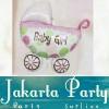 Balon kereta bayi / Balon Foil Baby Stroller Girl / Balon Baby Shower