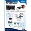 Lapara 3 in 1 Wireless Keyboard with Touchpad