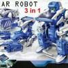 AR ROBOT SOLAR 3 IN 1 || PERMAINAN MERAKIT ROBOT , TANK & KALAJENGKING