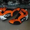 sepatu drag/touring alpinestar orange