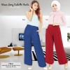 Maia twill long culotte palazzo pants / celana panjang kulot wanita