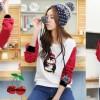 FG - [blus penguin CR] blouse wanita spandex putih