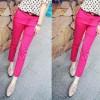FG - [Pants Next plus Belt SW] celana wanita katun strech pink fanta S