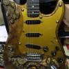 Gitar Ukir Stratocaster Vintage Seni Kelas Dunia
