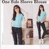 One Side Sleeve Blouse