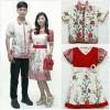 Couple Family Batik Dress Bella Kupu 2 anak