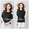NEW Shoppaholic Shop Blouse Belinda - Black HGB