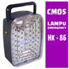 CMOS HK-86 Emergency lamp Rechargeable Bisa Diisi Ulang TERANG dan TAH