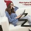 Generic Meja Laptop Portable Aluminium With Cooler Big Fan Mousepad