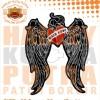 Patch Jaket Touring Angel Hearth Motorcycle Caferacer untuk jaket kuli