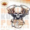 Patch Jaket Touring Skull Engine Motor Machine Biker Motorcycle Cafera
