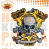 Patch Jaket Touring Skull Harley Davidson MotorBike Motorcycle Caferac