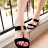 Sepatu Wanita Wedges Selop- Platform Adl 654 Hitam