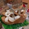 Sepatu Wanita Wedges Flat Form Virgin Cream
