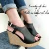 Sepatu Wanita Wedges Cameron Hitam