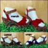Sepatu Wanita Wedges Batik
