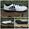 Sepatu futsal adidas X 16 putih list hitam sol componen