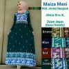 Gamis Muslim Jersey Super Payung / Dress Maxy Motif Klok Busui Murah