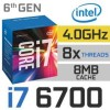 Intel Processor i7-6700 BOX - Socket 1151 Skylake 4.0GHz Quadcore