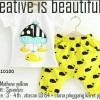 Setelan Anak Cowok Cewek Boy Girl Kids Mathew Yellow Kuning