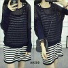 Setelan Dress Nyla 2in1 Salur