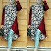Long blouse Tunik Oxy Batik Jumbo XL