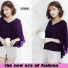 Blouse Kania Purple Ungu jumbo XL