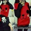 Blouse Sweater Panda Red Merah