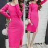 Dress Autine Pink Brukat
