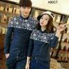 Couple Kemeja Hem Numata Batik Navy