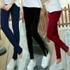 FG - [Pant oliv zipper HO] celana wanita jersey warna maroon dan navy<