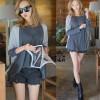 FG - [blus vivo DR] blouse wanita spandek abu