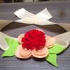 Ikat hordeng/ikat gorden Bunga merah tengah