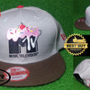 Snapback Replika Import MTV Brown Grey