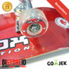 Silverfox Skateboard Ruby Red 100% Canadian Maple Lengkung