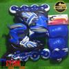 Sepatu Roda Power Champs Chrome Frame Fancy Colours Biru + Dekker