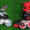 Sepatu Roda Power Line 6500L 4 Ban menyala + Bajaj